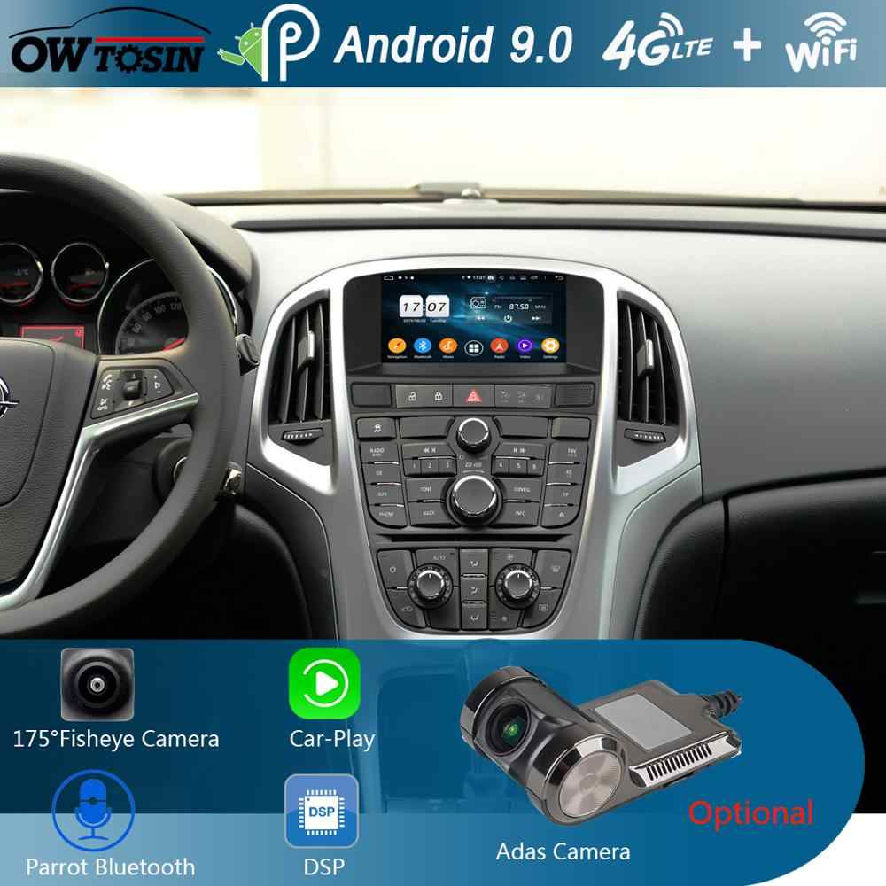 "7 ""IPS 1024*600 8 Core 4G Ram + 64G ROM Android 9.0 Mobil Dvd Player untuk Opel Astra J 2010 2011 2012 2013 Carplay Parrot Bt Radio"