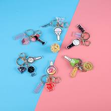 Kpop Korean Band Blackpink Exo Twice Acrylic Pendent Keyring Keychain(China)
