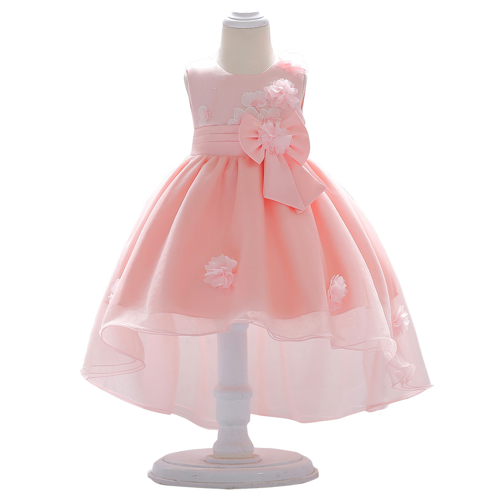 0-2-Year-Old New Style Baby A Year Of Age Dress Princess Dress Wedding Dress Mesh Dress Infants BABY'S FIRST Month Baptism Dress