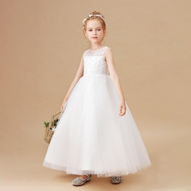 Ball Gown White Flower Girls Dress 3