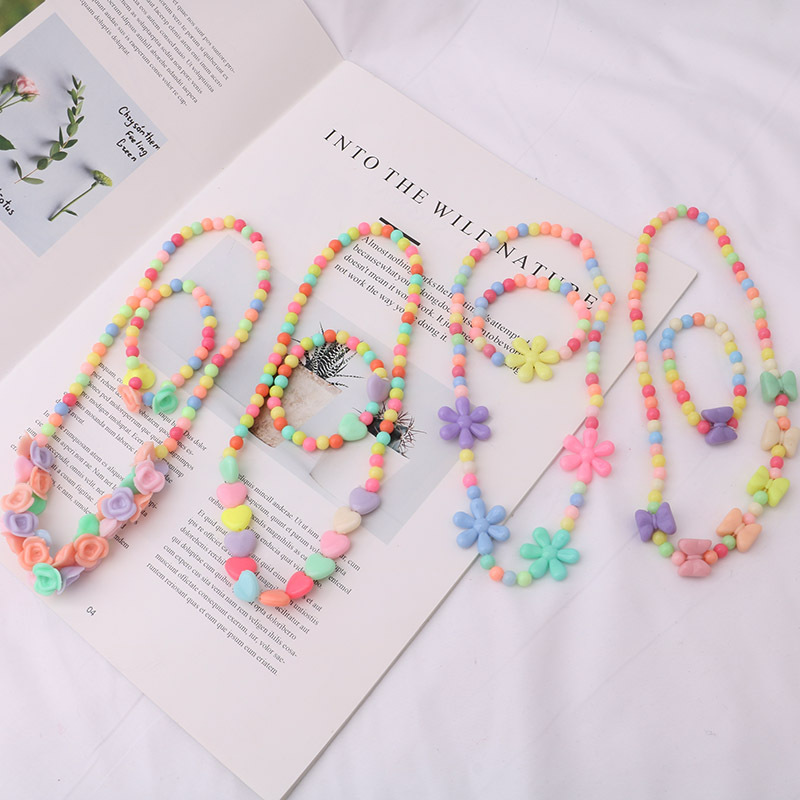 Princess Beads Children's Necklace Bracelet Girls Birthday Party Gifts Pack Up Decorative Princess gift(China)