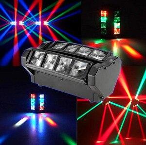 Image 5 - YaYao 8X3W Mini LED Luz De Araña DMX512 Iluminación Con Cabeza Giratoria RGBW Haz Club Disco Para Proyectora Dj Light