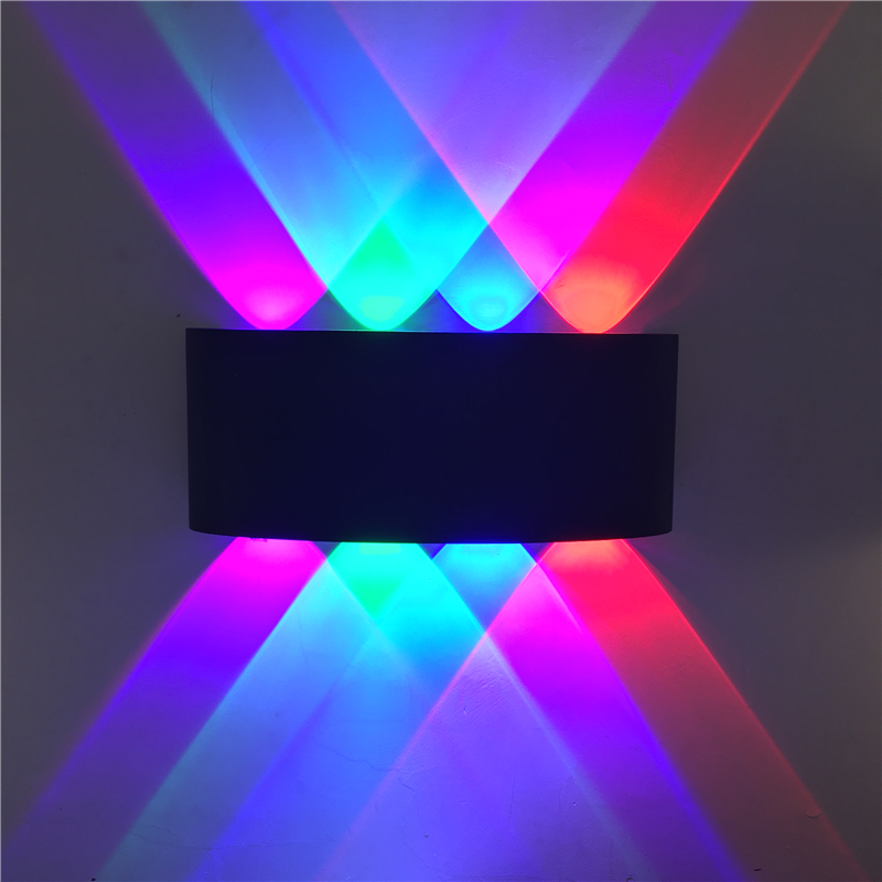 LED wall light double head outdoor waterproof modern Nordic style indoor wall lamp living room porch garden light 8w AC85 265v LED Outdoor Wall Lamps     - title=