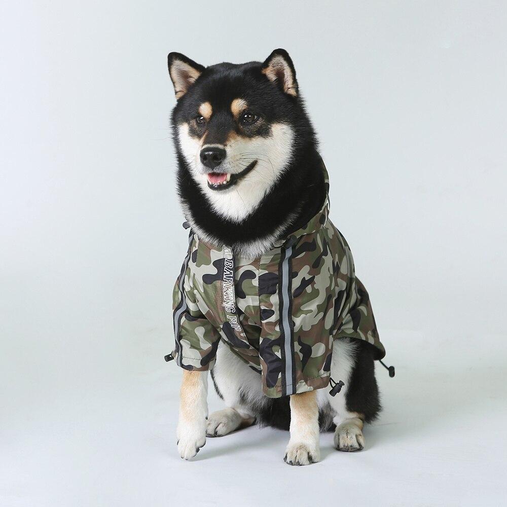 Комнатная собака Дождевик куртка одежда с защитой от ветра кошка собака куртка Модные Водонепроницаемый Светоотражающий ошейник для животных костюмы мелких домашних животных большой куртка для домашних животных-1