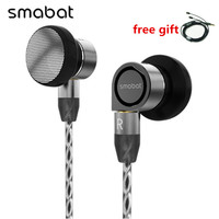 Smabat M1 Pro In ear Earphones HiFi Flat Head Plug Earburd Metal Mmcx Earphone Detachable Detach Cable