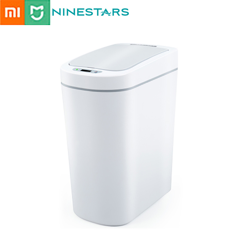 NINESTARS Smart Sensor Trash Can Automatic Wireless Induction Waste Bin Eco friendly Dustbin Household Trash Bin 7L From Xiaomi|Waste Bins|   - AliExpress