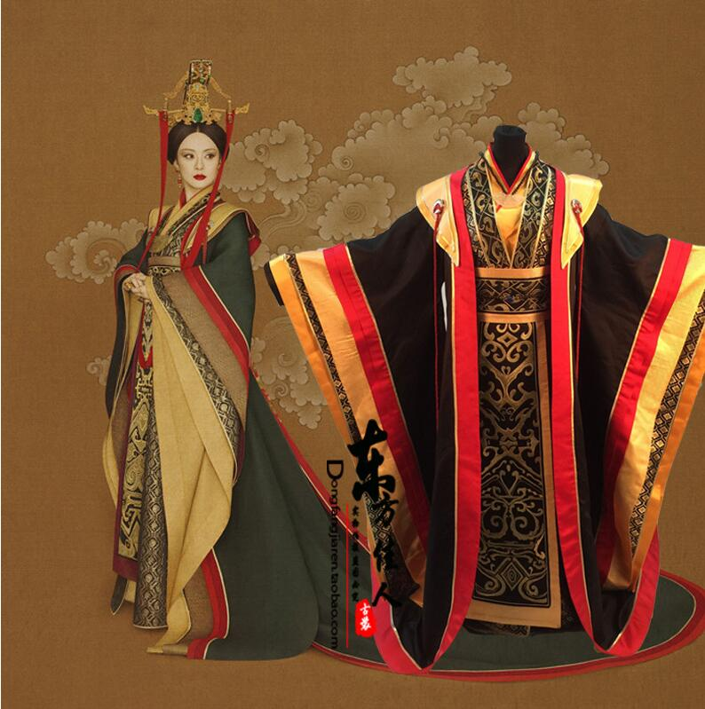 High-end Personage Customization Chinese Top Quality Ancient Costume Female HanFu Film TV Empress Amear Ceremony Tail-tailed