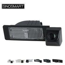 SINOSMART HD Spezielle Auto rückansicht Parkplatz Rückfahr Kamera für Skoda Octavia Fabia Superb Schnelle 2010 zu 2015 Optional
