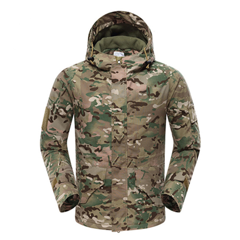 Men's Winter Fleece Military Tactical Jacket Outdoor Camouflage Coats Hiking Camping Climbing Windbreaker Military Jacket