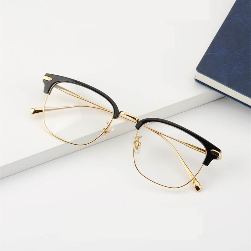 2019 New Rectangle Semi Rimless Eyeglasses With Non-prescription Clear Lens Optical Glasses Frame For Men Women Oculos De Grau