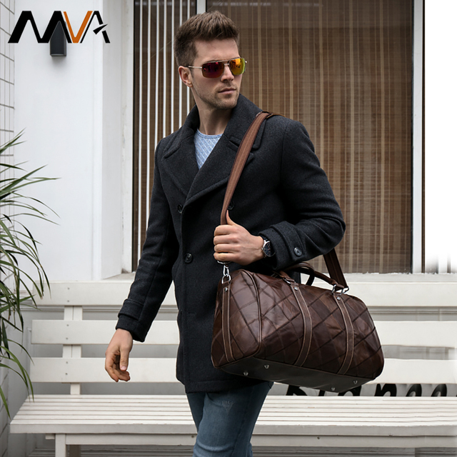 WESTAL leather duffle bag men's travel bag leather vintage weekend bag men's travel bags genuine leather luggage/overnight tote 6