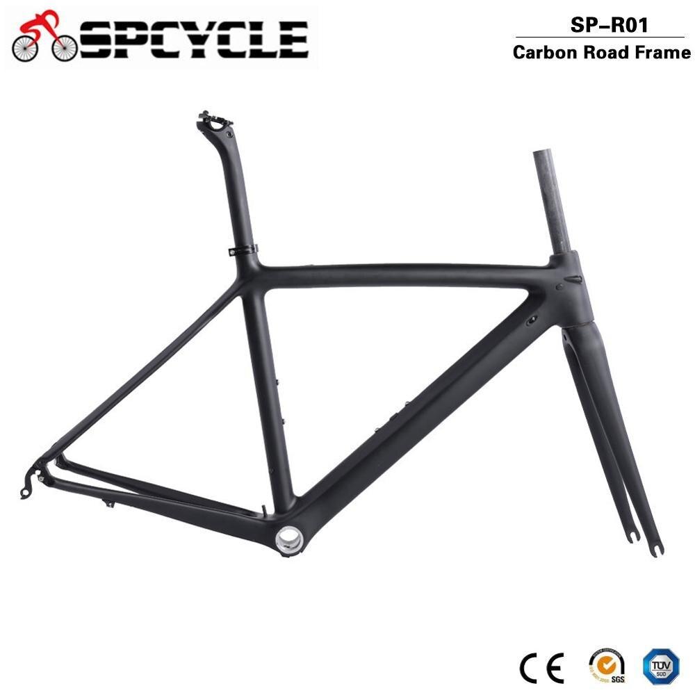 Spcycle 700C полностью карбоновые рамы для шоссейного велосипеда BSA, карбоновые рамы для гоночного велосипеда, велосипедные рамы для шоссейного велосипеда, вилки, подседельный штырь