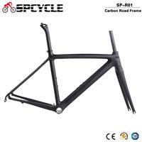 Spcycle 700C Full Carbon Fiber Road Bike Frames BSA Racing Bicycle Carbon Framesets,Cycling Road Bike Frames Forks Seatposts