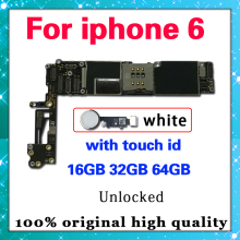 Tested Good Working Original 16GB 32GB 64GB Motherboard for iPhone 6 6G Factory Unlocked Mainboard Logic Board with IOS system цена