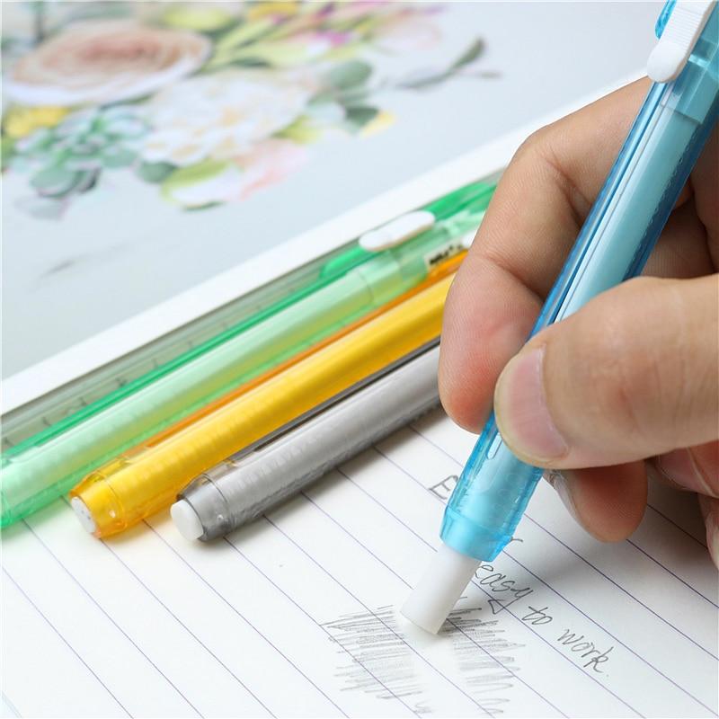 2 шт./лот выдвижной ластик для ручек, Детские Ластики для студенческих карандашей, разноцветный креативный милый случайный отправка