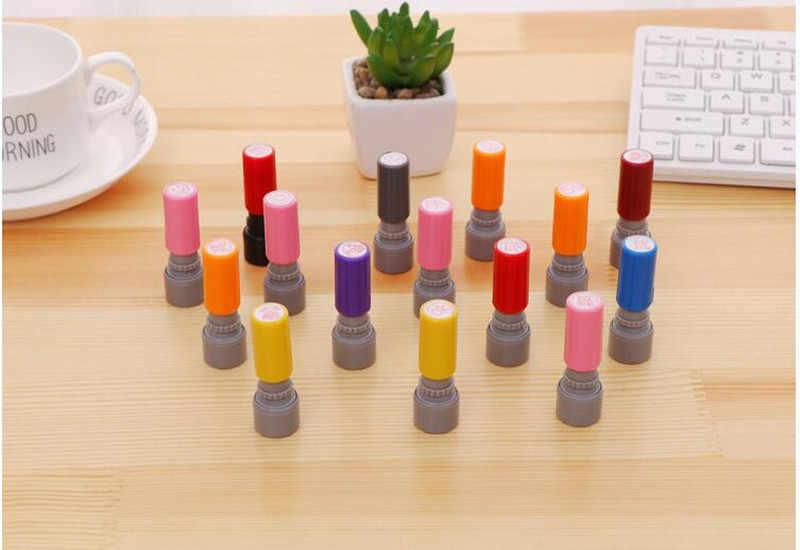 Otomatik mürekkep okul öğretmen okul çocuklar hediye damgası karikatür çocuk plastik ışığa duyarlı özel
