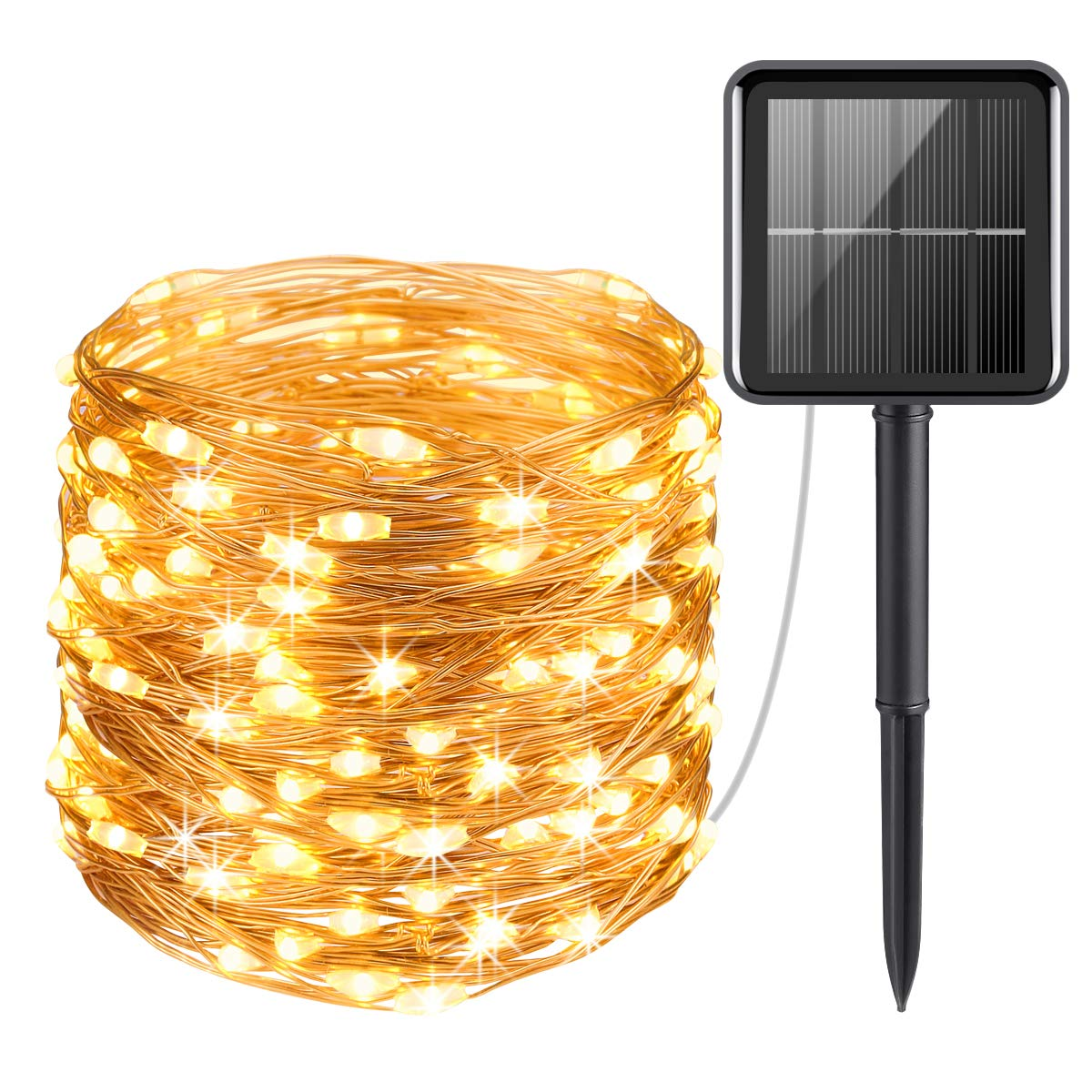 10M LED Solar String Lights Waterproof Copper Wire Fairy Outdoor Garden Home