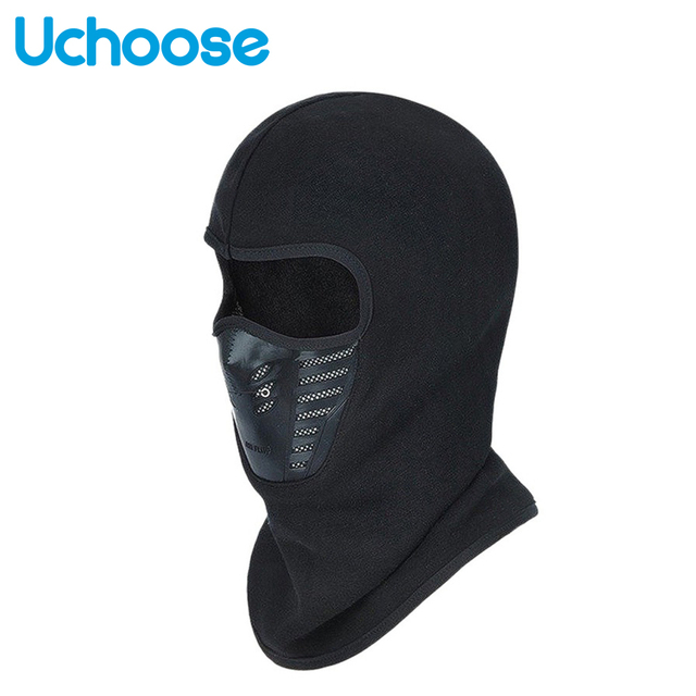 Outdoor Winter Warm Motorcycle Full Face Mask  Bicycle Bike Climbing Ski Windproof Carbon Filter Mask Balaclava Head Protector