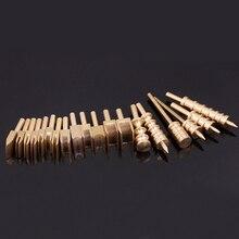 19 pçs ferramentas de borda de couro latão sólido selo de couro borda slicker burnisher ferro de solda marcação dicas creaser