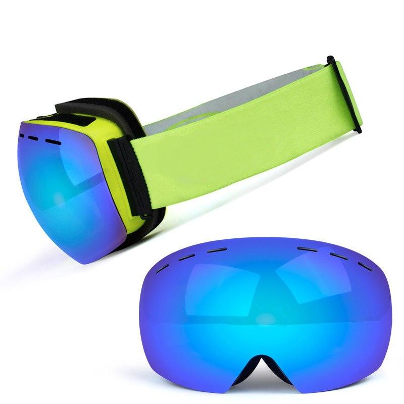 Очки Лыжные с двойными линзами, незапотевающие, с УФ-защитой