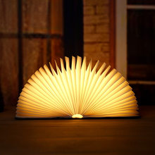 Portable USB Rechargeable LED Magnetic Foldable Wooden Book Lamp Night Light Desk Lamp Hot Sale for Home Decor(China)