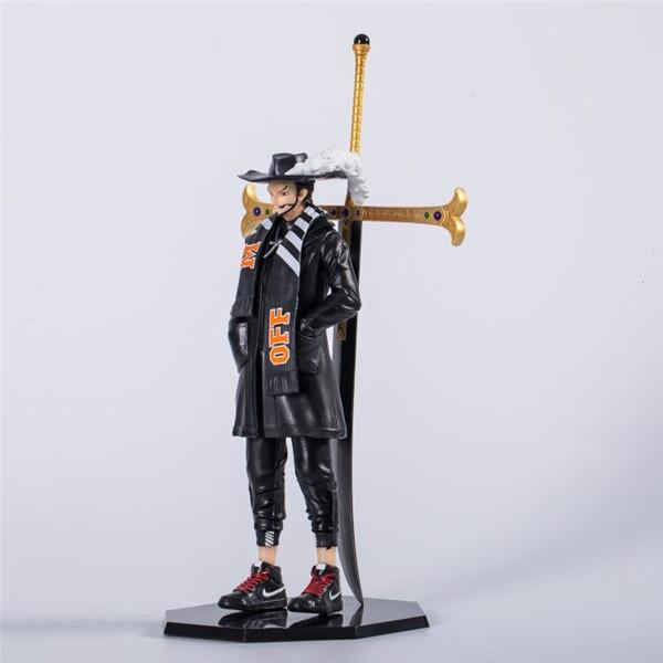 22cm One Piece Black Dracule Mihawk figure Anime Action Figure PVC New Collection figures Xmas toys B19 1