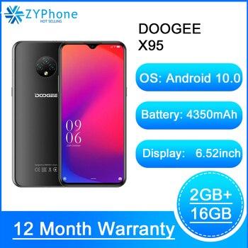 Купить Мобильный телефон Android 10 4G-LTE, экран 6,52 дюйма, MTK6737, 16 Гб ПЗУ, две SIM-карты, тройная камера 13 МП, аккумулятор 4350 мАч, DOOGEE X95