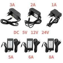5 в 12 В 24 в источник питания 1A 2A 3A 5A 6A 8A 5 в 12 В 24 В адаптер питания 5 12 24 В вольт адаптер питания освещение Светодиодная лента