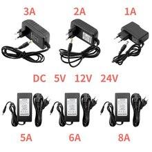 цена на 5V 12V 24V Power Supply 5V 12V 24V 1A 2A 3A 5A 6A 8A Power Supply Adapter 5 12 24 V Volt Power Supply Adapter Lighting Led Strip
