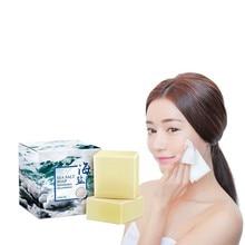 Free postage low price wholesale sea salt soap milk whitening reduce black spots prevent acne softening cutin tender skin