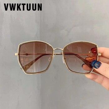 VWKTUUN Square Sunglasses Women Trendy Sunglasses Irregular Frame Glasses UV400 Points Vintage Sunglass Mirror Gradient Shades stylish irregular alloy frame silver sunglasses for women
