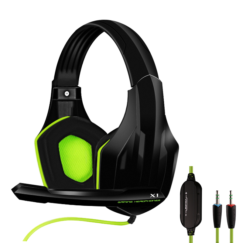 Professional Gamer Headphone Super Bass Over-ear Computer Gaming Headset with Microphone Stereo Wired Headphones for PC PS4 Xbox image
