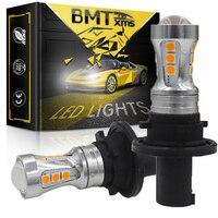 BMTxms veicolo indicatore di direzione Canbus PH24WY SPH24 LED illuminazione auto ambra bianca per Audi Cadillac GMC Lincoln Saab luminoso