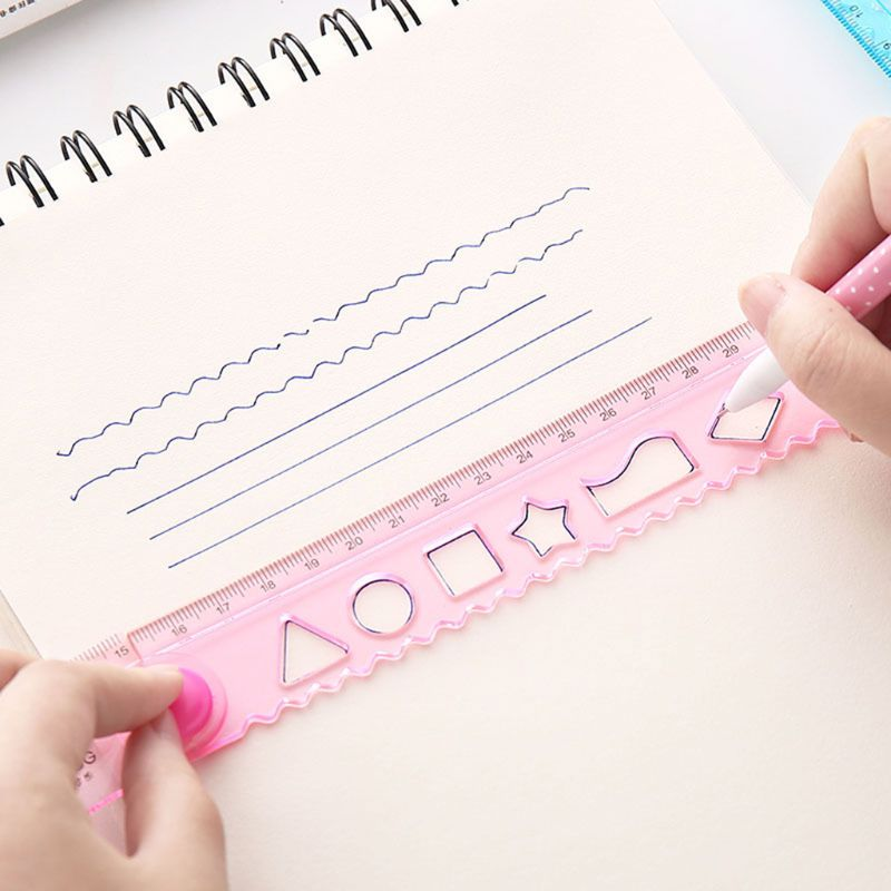 30cm Korean Flexible Folding Ruler Multifunction Plastic Drawing Rulers Office School Stationery Students Kids Gifts LX9A