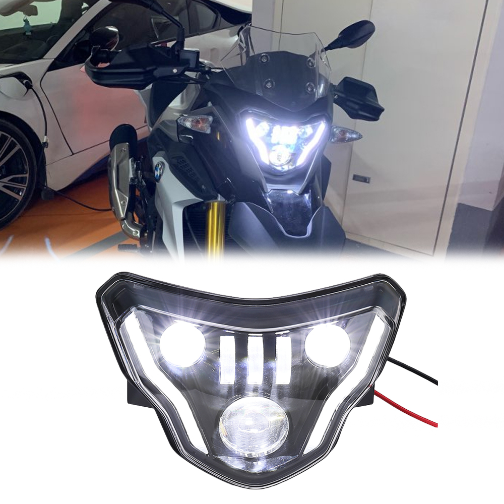 Motorcycle LED Headlights for BMW G310GS <font><b>G310R</b></font> G 310 GS R 310GS 2016 2017 2018 Lights with Complete Devil eyes Assembly Kit image