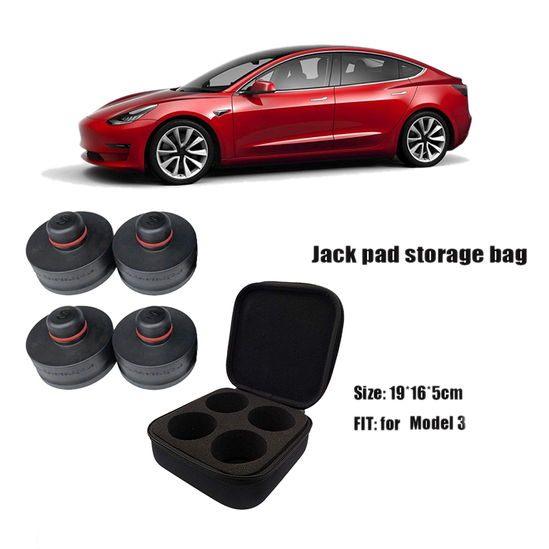 Rubber Jack Lift Point Pad Adapter Jack Pad Tool Chassis Jack For Tesla Model 3, 4 Pack With Handbag