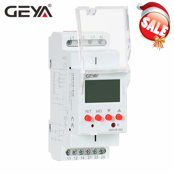 цена на GEYA GRV8-S 3 Phase Digital Display Voltage Relay 8A 2SPDT Monitoring Phase Relay Auto Reset LCD Relay