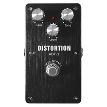ADT-1 Distortion Electric Guitar Effect Pedal Modes True Bypass Aluminum Alloy Housing True Bypass Design Guitar Pedal moen compressor guitar effect pedal vol comp eq controls ture bypass stompbox for electric guitar