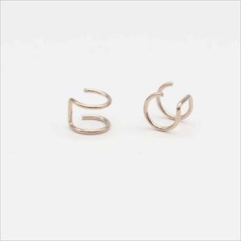 New Fashion 5 pcs 5 style Punk Rock Ear Clip Cuff Wrap Earrings No piercing-Clip Hollow Out U Pattern Statement jewelry Gift 4