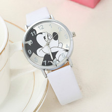A Child Lovely The Mouse Cartoon Children Watch Selling PU Belt Students Quartz