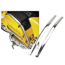 2x motos carenagem arco em forma de cromo strake apto para honda goldwing gl1800 2001-2011 peças de decoração, fácil de instalar
