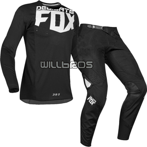 Delicate Fox Motorbike MX Bike Off Road 360 Kila Racing Jersey Pants Motocross Gear Set Mens Kit Black Suit