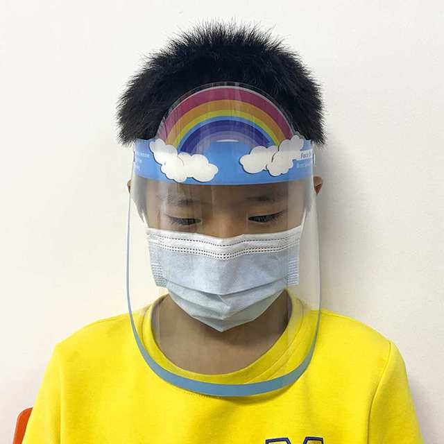 5pcs Transparent Face Shield For Kids Fog-proof Adjustable Dust-proof Protective Rotatable Head-Mounted Full Face Masks 3
