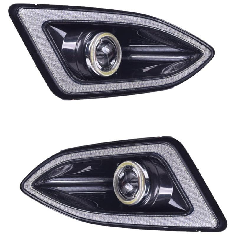 Auto Tagfahrlicht LED DRL Tageslicht Nebel Lampen Kit für Toyota Reiz/MARK X 2013 2014 - 6