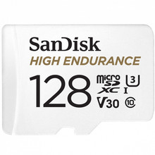 Карта памяти 128GB SanDisk® High Endurance microSDHC Card with Adapter - for Dashcams & home monitoring