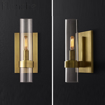 Modern Luxurious Wall Lights Glass Shade Gold/Black Wall Lamps for Bedroom Bedside Living Room Restaurant Fixtures Led Sconces