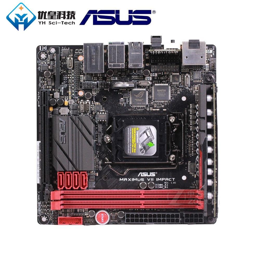 Asus Desktop Mini-Itx 1150-Core Z97 Impact-Socket DDR3 Intel Used LGA VII Pentium/celeron