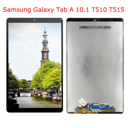 100% Tested For Samsung Galaxy Tab A 10.1 2019 T515 T510 SM-T517 LCD Display Touch Screen Digitizer Assembly