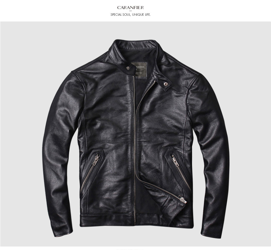 H28e912a5cdde493f8d49e630a7cd6219a CARANFIER DHL Free Shipping Mens 100% Cowhide Genuine Leather Jacket High quality old retro motorcycle leather jacket 3XL