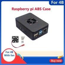 Raspberry PI 4 Modell B 1 GB/2 GB/4 GB ABS Fall Abdeckung Mit Lüfter Kunststoff box Gehäuse Für Raspberry Pi 4B Kühlung shell Fall